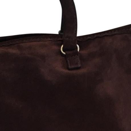 Billig Verkauf Original Prada Wildleder-Handtasche Braun Footlocker Online EgcyeyZ6e