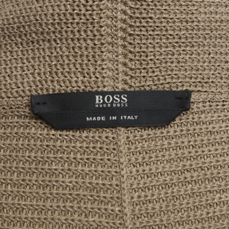 Beige Hugo in Braun Hugo Boss Boss Strickjacke T8xOw1S