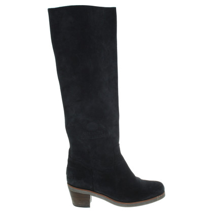 Shabbies Amsterdam Schwarze Boots im Used-Look