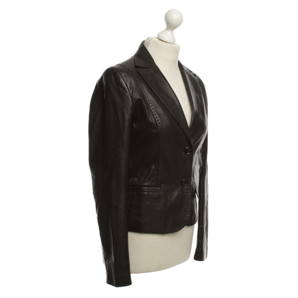Hugo Boss Leather Blazer in Black