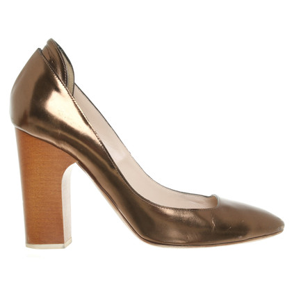 Chloé Metallic-kleurige pumps