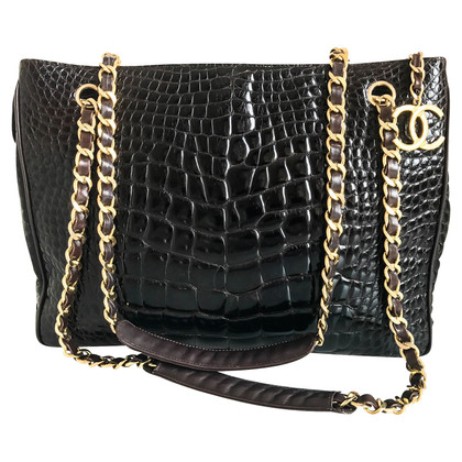 Chanel peau de crocodile Shopper