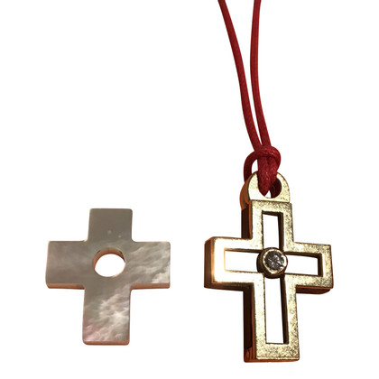 Hermès Gold pendant cross