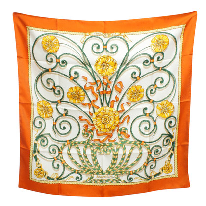 Hermès Silk cloth with illustrated graphic