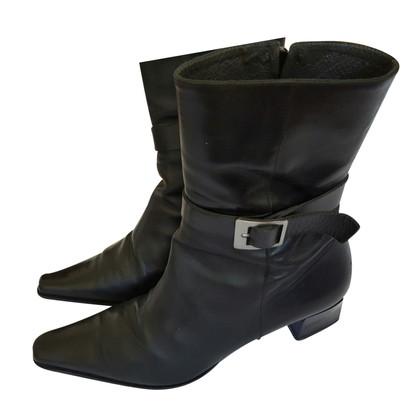 René Lezard zwarte laarzen