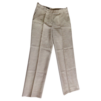 Loro Piana Wide linen trousers in Beige
