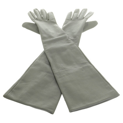 Schumacher Lederhandschuhe mit Reißverschluss