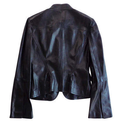 Gucci Leather jacket with bell sleeves
