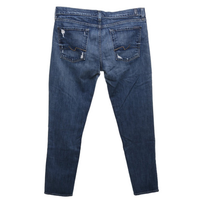 "7 For All Mankind Jeans ""Josephina"" en bleu"