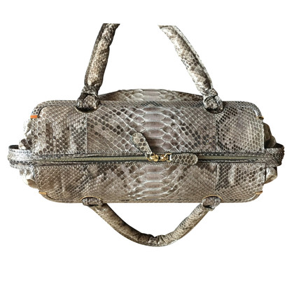 Zagliani Handbag made of python leather