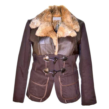John Galliano gilet de fourrure