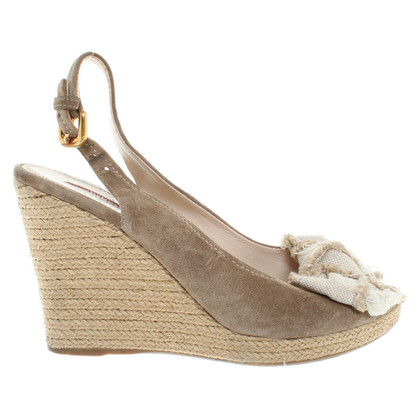 Prada Wedges Suede