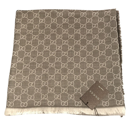 Gucci Guccissima Doek in Grey-Brown
