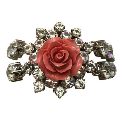 Prada Armband met roze kristallen