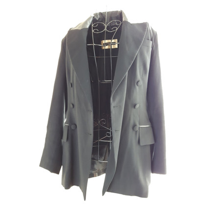 Plein Sud Blazer met lederen applicatie