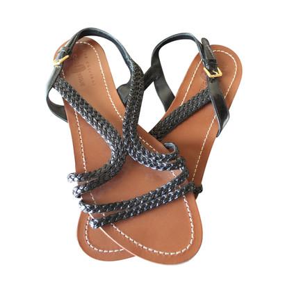 Car Shoe in pelle intrecciata sandali