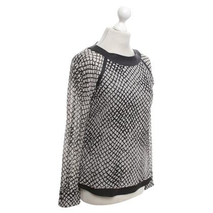 Strenesse Zijden blouse met patroon Print
