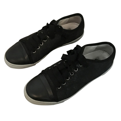 Lanvin Sneakers in look in pelle di coccodrillo