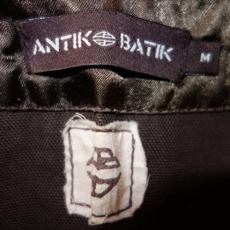 Weste Stickereien Antik mit Taupe Antik Batik Batik Stickereien Weste mit vOw14qg