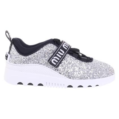 Miu Miu Silver colored sneakers