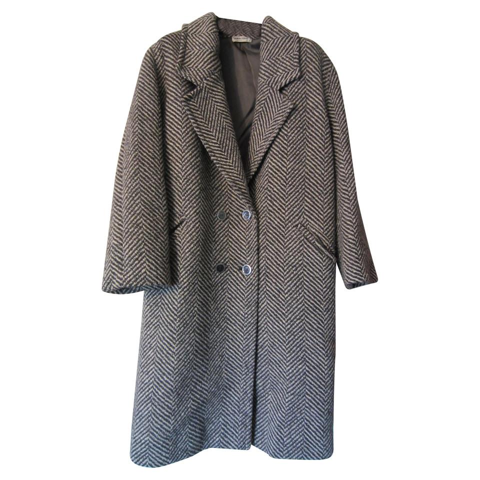 giorgio armani mantel mit fischgr tmuster second hand giorgio armani mantel mit. Black Bedroom Furniture Sets. Home Design Ideas