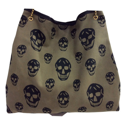 Alexander McQueen Tote Bag with skull motif