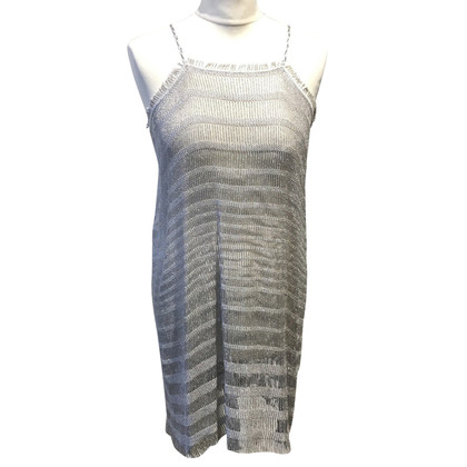Missoni Silver-colored pinafore