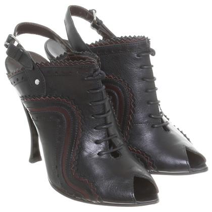 Balenciaga Slingback peep-dita dei piedi con laccetti