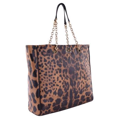 Dolce & Gabbana Gli amanti dello shopping con stampa leopardo