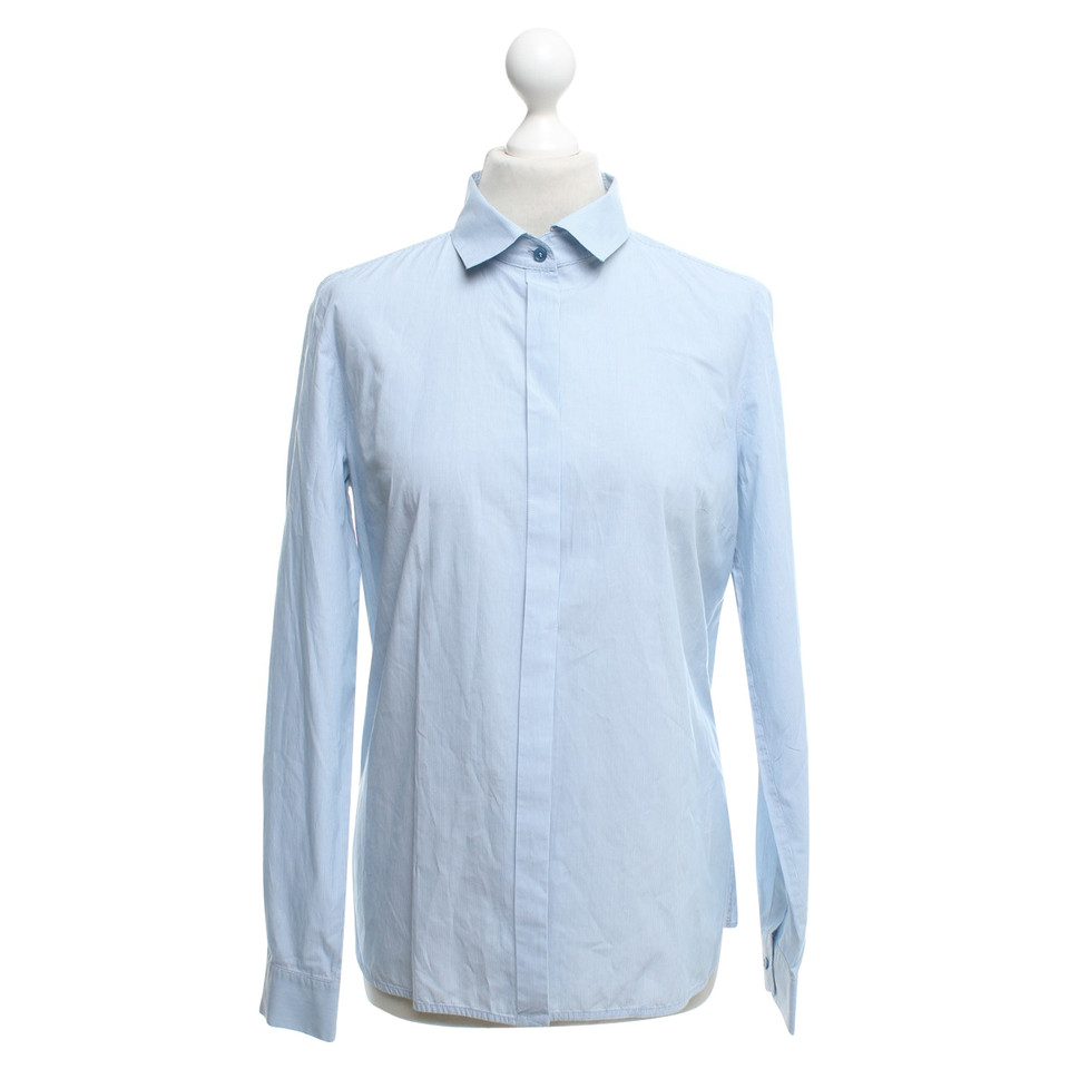 Max Mara Blouse in blue / white