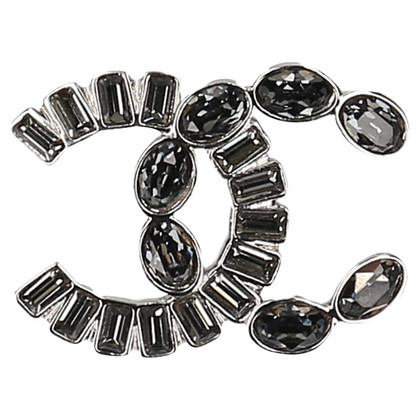 Chanel Brooch of rhinestone and metal