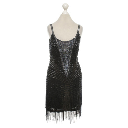 Roberto Cavalli Silk dress with pearl embroidery