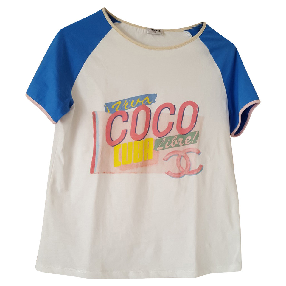 Chanel shirt coco cuba buy second hand chanel shirt for Chanel logo t shirt to buy