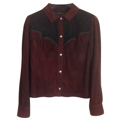 Isabel Marant camicia camoscio bordeaux