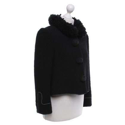Zac Posen Bouclé jacket in black
