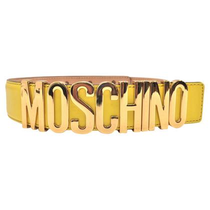 Moschino Gele riem