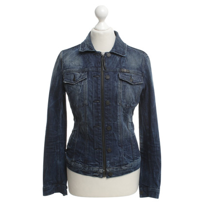 7 For All Mankind Jeansjacke in Blau