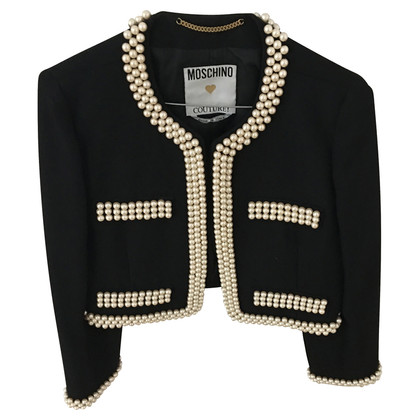Moschino Vest met beaded trim