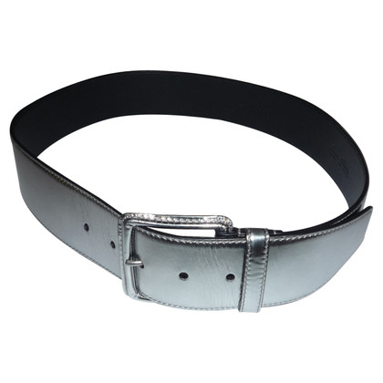 Miu Miu SILVER LEATHER BELT BY MIU MIU