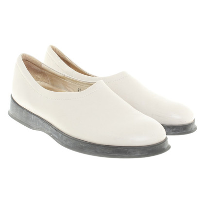 Hogan Leder-Slipper in Beige