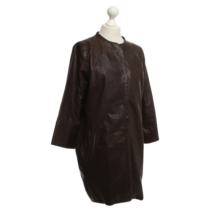 Odeeh Leather coat in brown