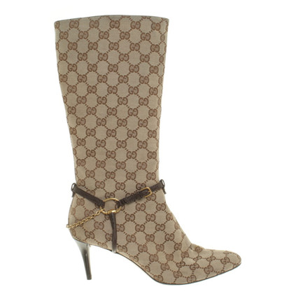 Gucci Stiefel mit Guccissima-Muster