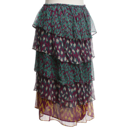 Antik Batik Volant skirt with pattern