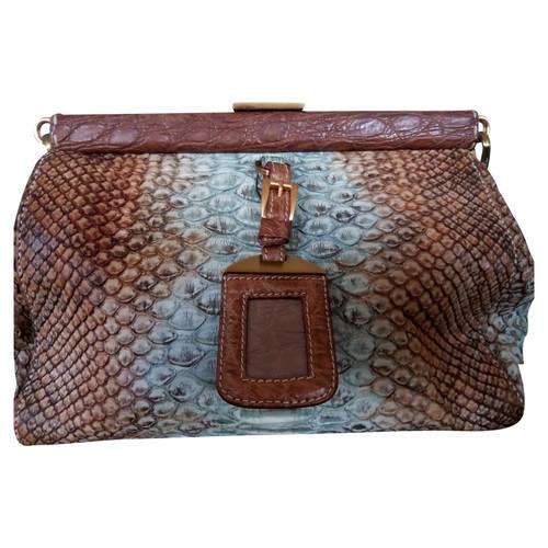 Prada Python leather handbag - Second Hand Prada Python leather ... dc9413fb6206a