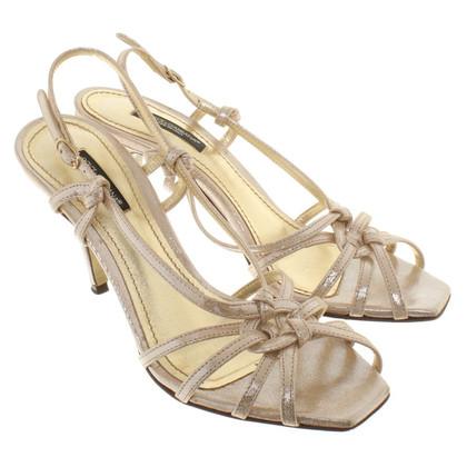Dolce & Gabbana Goudkleurige sandalen