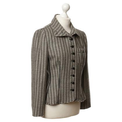 Armani Blazer in lana con motivo a Web