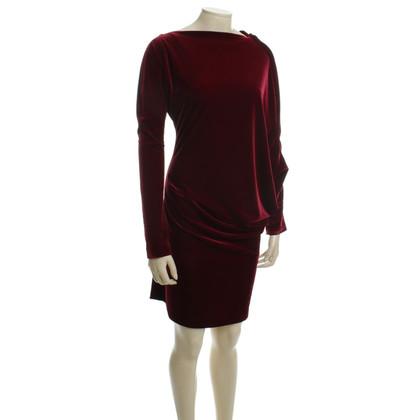 Talbot Runhof Asymmetric velvet dress