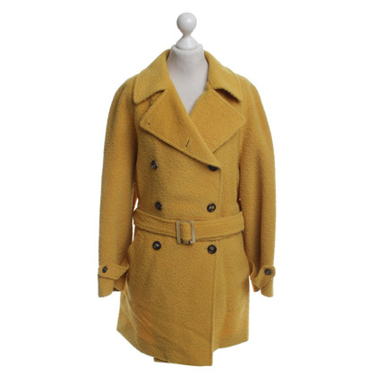 Agnona Wool coat in yellow