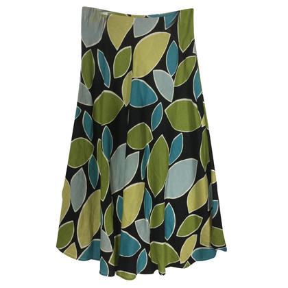 Hobbs Linen skirt with print