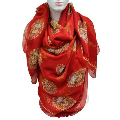 Alexander McQueen XXL silk scarf with pattern